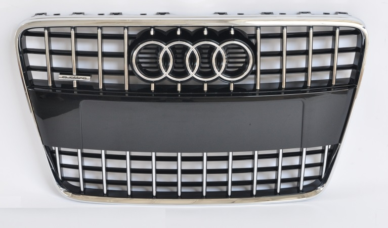 grill s line look audi q7 sq7 4l schwarz chrom frontgrill. Black Bedroom Furniture Sets. Home Design Ideas
