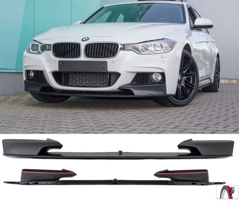 frontlippe p type performance bmw f30 f31 m paket frontspoiler. Black Bedroom Furniture Sets. Home Design Ideas