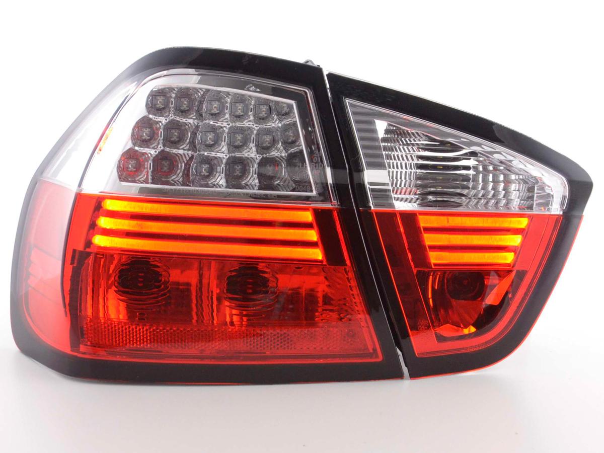 r ckleuchten e90 lightbar led rot schwarz bmw limousine. Black Bedroom Furniture Sets. Home Design Ideas