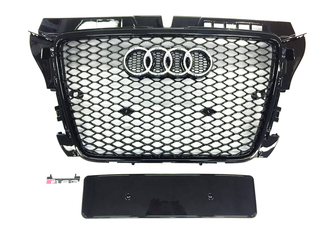 Grill RS3 Look Schwarz Audi A3 S3 8P 8PA 8P1 2008-2012 RS ...