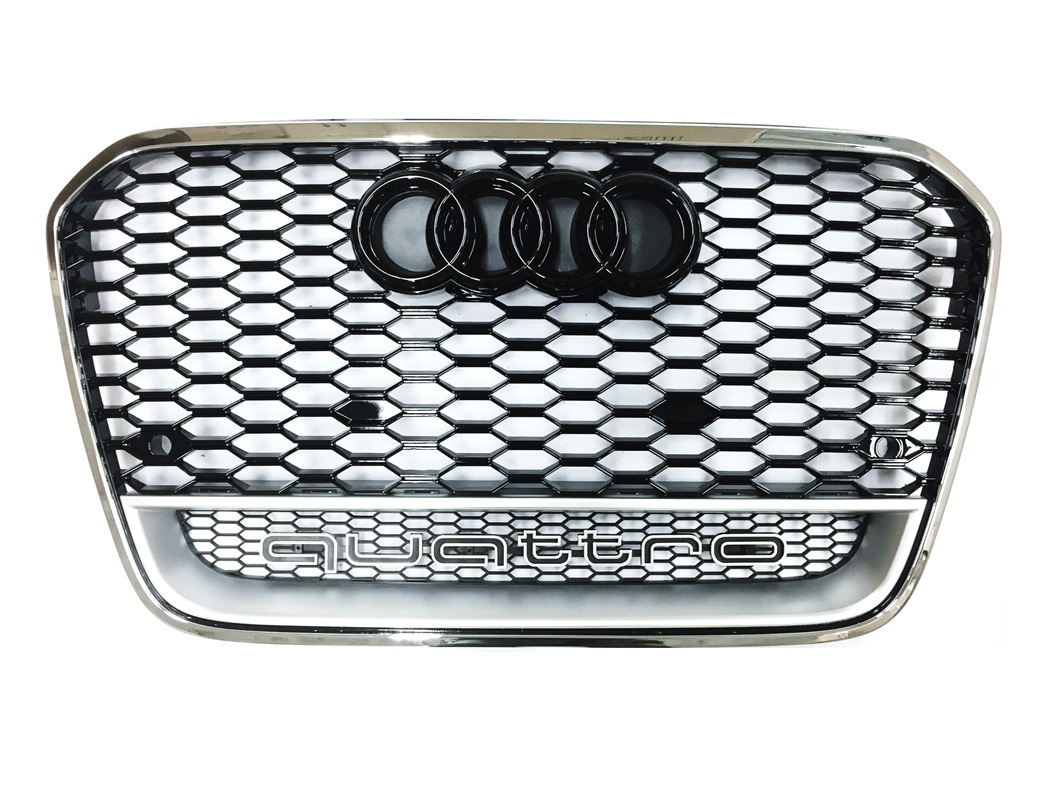 Grill RS Look CHROM Audi A6 S6 RS6 4G C7 2011-2014 Waben Quattro