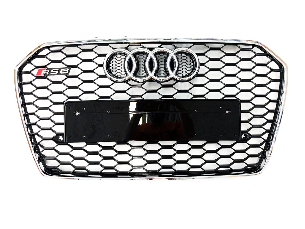 Grill RS Look CHROM Audi A6 S6 4G C7 Facelift ab 2014 RS6