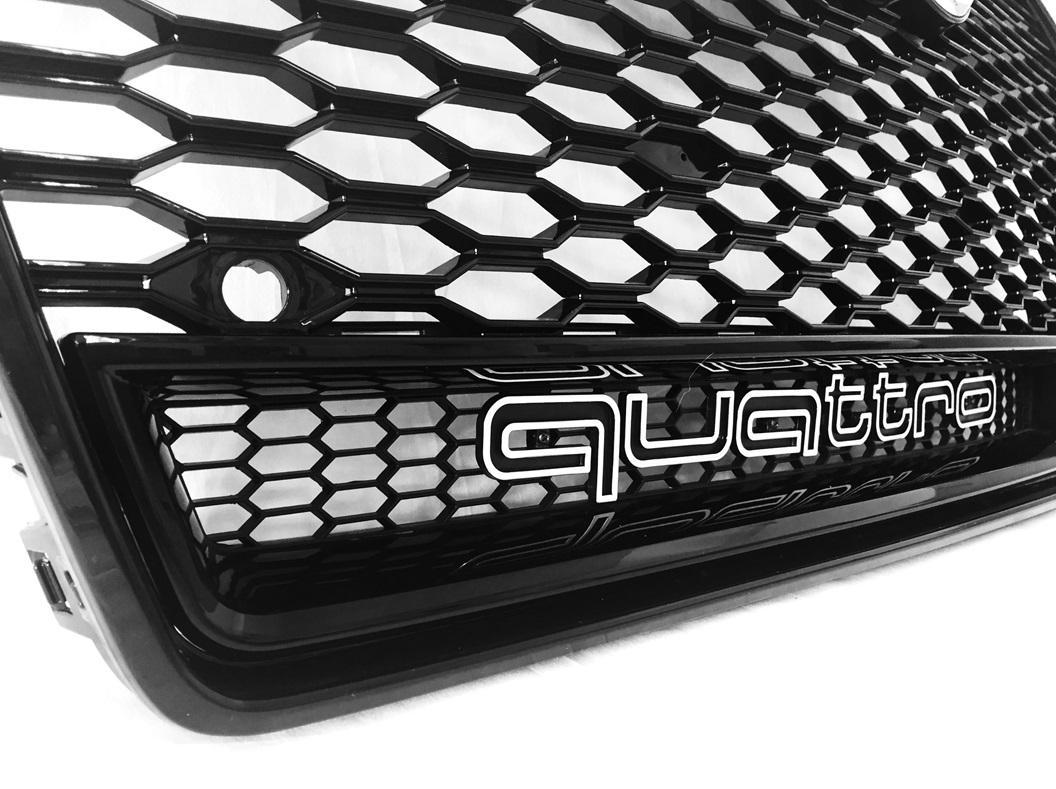 grill rs look schwarz mit kamera audi a6 s6 rs6 4g c7. Black Bedroom Furniture Sets. Home Design Ideas