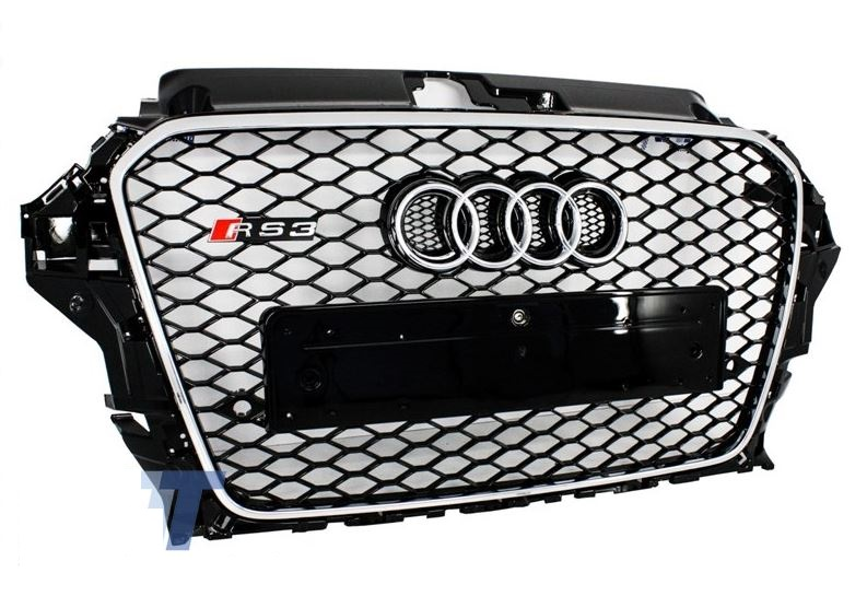 grill rs3 look chrom audi a3 s3 8v 2012 2015 wabengrill. Black Bedroom Furniture Sets. Home Design Ideas